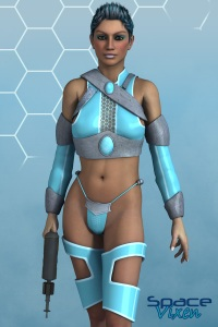 Front view of Space Vixen showing top transparency.